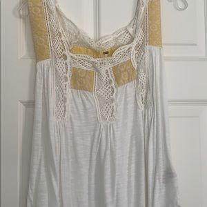 Free People Lace Casual Tank
